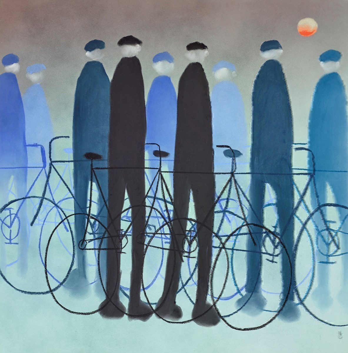 Home Time by Mackenzie Thorpe -  sized 28x28 inches. Available from Whitewall Galleries